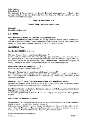Seite 1 - CSC Pharma