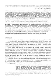 LITERATURA E ALTERIDADE - Departamento de Letras