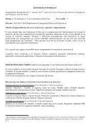 denominazione del corso - Ingegneria per l'Ambiente e il Territorio