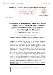Investigation of Inter polymer Complexation between Carbopol 974 ...