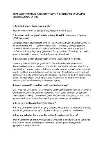 Chomisiwn Cynulliad Cenedlaethol Cymru
