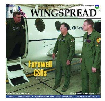 RANDOLPH AIR FORCE BASE 64th Year • No. 39 • OCTOBER 1 ...