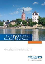 Geschäftsbericht 2011 - Rheingauer Volksbank eG