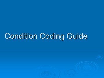 Condition Codes Update - February 2005