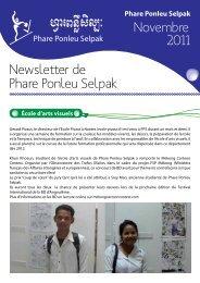 Novembre 2011 Phare Ponleu Selpak Newsletter de - Association le ...