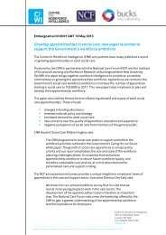 Growing apprenticeships in social care - Buckinghamshire New ...