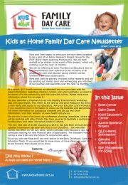 Kids at Home Family Day Care Newsletter