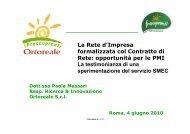 La Rete d'Impresa formalizzata col Contratto di Rete ... - Enea