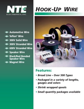 Hook-Up Wire Brochure (PDF) - NTE Electronics