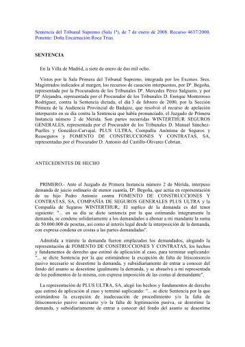 Ausencia de traslado de copias de la contestaci n a la for Sala 4 tribunal supremo