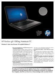 PSG Consumer 1C11 HP Notebook Datasheet