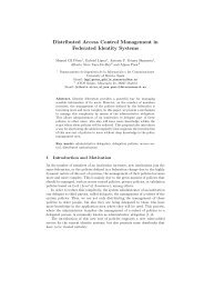Distributed Access Control Management in Federated Identity Systems
