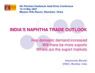 INDIA'S NAPHTHA TRADE OUTLOOK - CMT Conferences