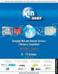 ICIN 2007 Advance Programme