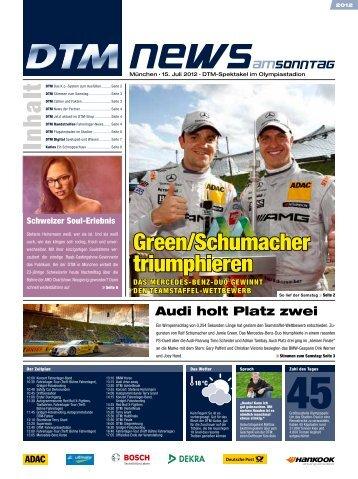 Green/Schumacher triumphieren - DTM