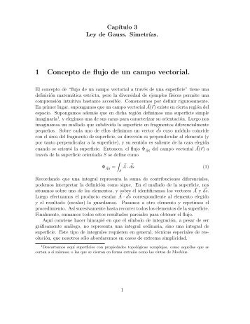 1 Concepto de flujo de un campo vectorial.
