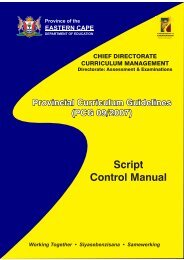 Examinations Script Control Measures - Ecexams.co.za