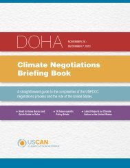 Doha Climate Negotiations Briefing Book - US Climate Action Network