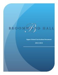 Upper School Curriculum Document 2012-‐2013