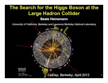 The Search for the Higgs Boson at the Large ... - Www Atlas Lbl