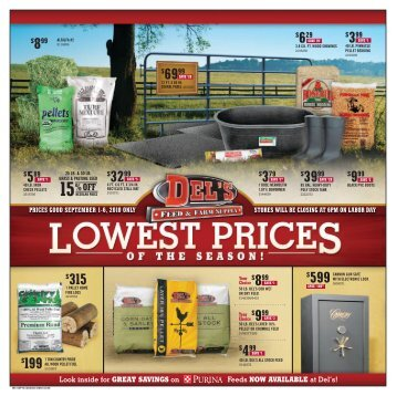199 $3299 $6999 $3999 $599 $315 - Del's - Feed And Farm Supply