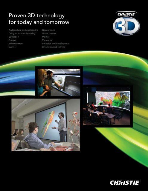 Proven 3d Technology For Today And Tomorrow Christie