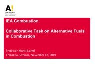 IEA Combustion Collaborative Task on Alternative Fuels ... - TransEco
