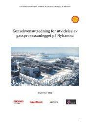 Konsekvensutredning for utvidelse av gassprosessanlegget på ...