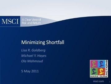Minimizing Shortfall