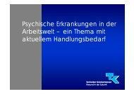 Psychische Erkrankungen in der Arbeitswelt – ein Thema mit ...