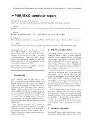 MPIfR/BKG correlator report - Université Bordeaux 1