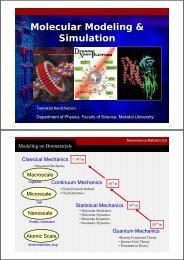 Molecular Modeling & Simulation - Nano Mahidol - Mahidol University
