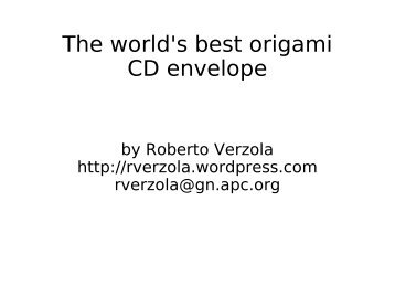 The world's best origami CD envelope