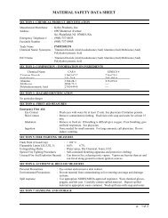 MSDS - Kobo Products Inc.