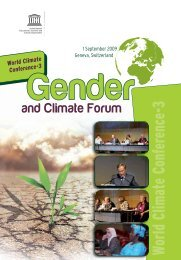 World Climate Conference-3; Gender and Climate Forum; 2009