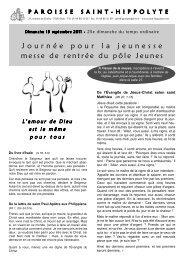 18 septembre 2011 - Paroisse Saint-Hippolyte