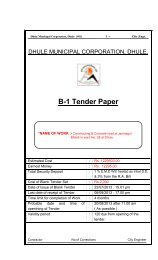 B-1 Tender Paper - Dhule Municipal Corporation