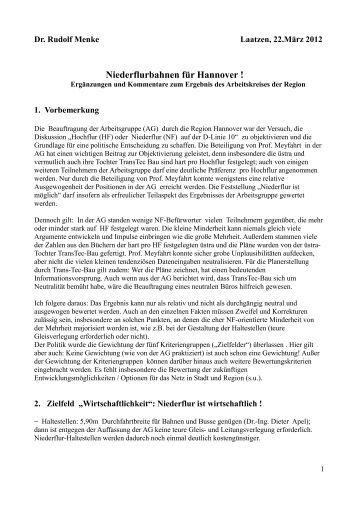 Niederflurbahnen für Hannover !