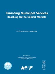 Financing Municipal Services. - Indian Institute of Public Administration
