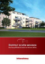 Broschüre Burg Windeck Areal - Intensivbau GmbH & Co. KG
