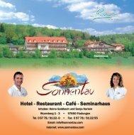 Hotel - Restaurant - Café - Seminarhaus - Hotel Sonnentau