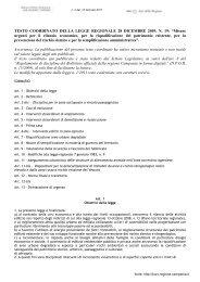 Testo coordinato della Legge Regionale n. 19/2009
