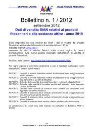 bollettino AAAF n. 1 - 2012 - Dati di vendita SIAN anno 20…