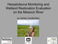 Herpetofauna Monitoring and Wetland Restoration Evaluation on ...