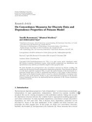 On Concordance Measures for Discrete Data and Dependence ...