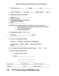 Request for Postgraduate Letter/MSPE - Uwi.edu