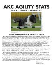 2011 Agility MACH Statistics