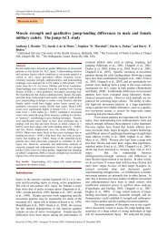 Muscle strength and qualitative jump-landing differences in male ...