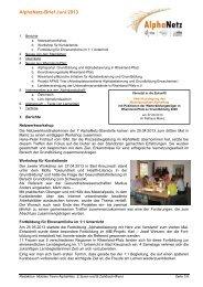 AlphaNetz-Brief Juni 2013