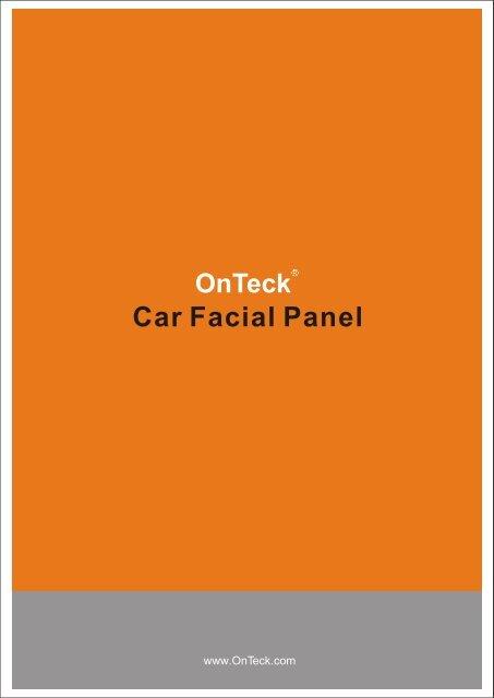 Car Facial Panel 2009-8 - OnTeck